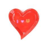 与木字母表块的爱咒语 免版税库存照片