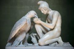 与木星老鹰的木卫三巴特尔・托瓦尔森 图库摄影