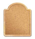 与木框架的黄柏板 免版税库存照片