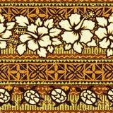 与木槿和乌龟的夏威夷样式背景 库存图片