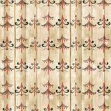 与木的杉树的无缝的Mezen样式 种族的背景 图库摄影