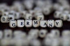 与木立方体的词德国 库存图片