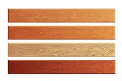 与木纹理传染媒介集合的木板条 向量例证