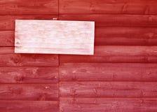 与木纹理的空的标志 库存图片