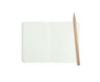与木铅笔的空白线路纸 免版税库存图片