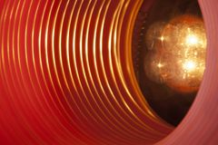 与未来派高科技蠕虫孔隧道的抽象概念性背景 图库摄影