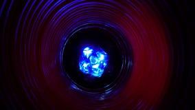 与未来派高科技蠕虫孔隧道的抽象概念性背景 影视素材