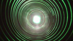 与未来派高科技蠕虫孔隧道的抽象概念性背景 股票录像