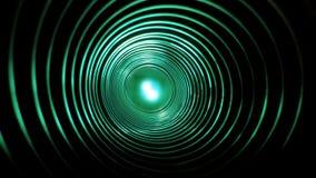 与未来派高科技蠕虫孔隧道的抽象概念性背景 向量例证