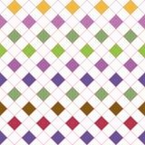 与杂色正方形的栅格 无缝的模式 免版税库存图片