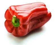 与条形码的辣椒的果实 免版税库存图片