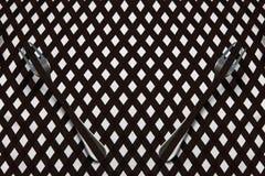 与条纹和叉子,照片的抽象几何背景 免版税图库摄影