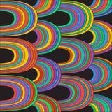 与条纹的抽象乱画样式 向量 免版税库存照片