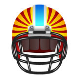 与条纹的橄榄球盔 图库摄影