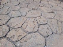 与条纹的老地面在街道上 免版税库存照片