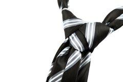 与条纹的领带结 免版税库存照片