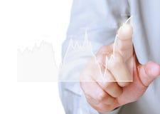 与来自手的财政图标志的Nvestment概念 库存图片