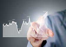 与来自手的财政图标志的Nvestment概念 免版税库存图片