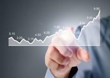 与来自手的财政图标志的Nvestment概念 免版税图库摄影