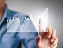 与来自手的财政图标志的Nvestment概念 免版税库存照片