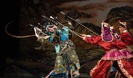 """与杨Family†的许多人北京Opera""""妇女将军的战斗妇女 免版税库存照片"""