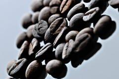 与杯子咖啡因味道的咖啡豆 免版税库存照片