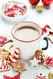 与杯子的曲奇饼热的咖啡 免版税库存照片