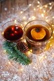 与杯子,咖啡的新年构成 库存照片