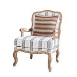 与枕头0n白色的经典椅子 库存图片