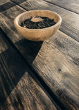 与果子片断的绿茶  库存照片
