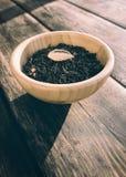 与果子片断的绿茶  免版税图库摄影