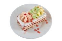 与果酱下落的蛋糕 免版税图库摄影
