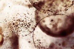 与果冻球、泡影和光的抽象水下的构成 免版税库存照片