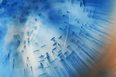与果冻球、泡影和光的抽象水下的构成 免版税库存图片
