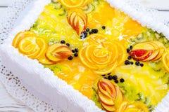 与果冻的蛋糕 库存照片