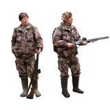 与枪的成人猎人 免版税库存图片
