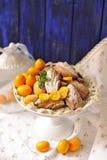 与柑橘,可口自创酥皮点心的曲奇饼马德琳, 图库摄影