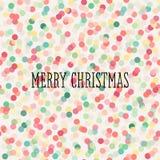 与柔和的淡色彩色的五彩纸屑的圣诞节无缝的样式 向量例证