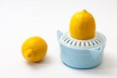 与柠檬剥削者的两个柠檬 库存照片