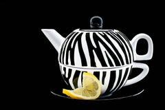 与柠檬转弯的茶  库存照片