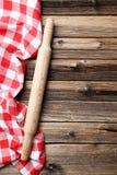 与柱塞的餐巾 免版税库存照片