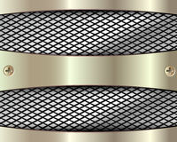与栅格2的金属背景 向量例证