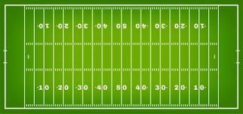 与标号的橄榄球领域 在顶视图的橄榄球场与白色标注 向量例证