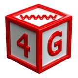 与标志的块:4G,万维网 免版税库存图片