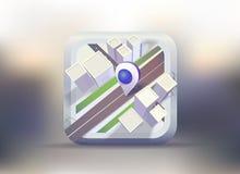 与标志的城市地图 免版税图库摄影