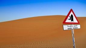与标志的沙丘 库存照片