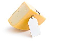 与标签的伊顿干酪乳酪 库存图片