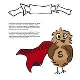 与标签的超级猫头鹰 图库摄影