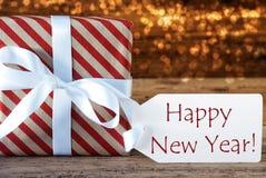 与标签,新年快乐的大气圣诞节礼物 图库摄影