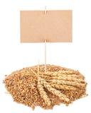 与标记的麦子五谷 库存照片